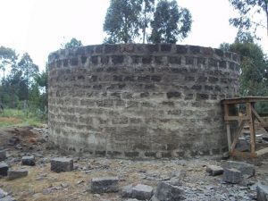 The water storage tank at Kiria Primary School